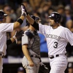 Garland, Cuddyer Lead Rockies to 6-3 Victory Over Padres