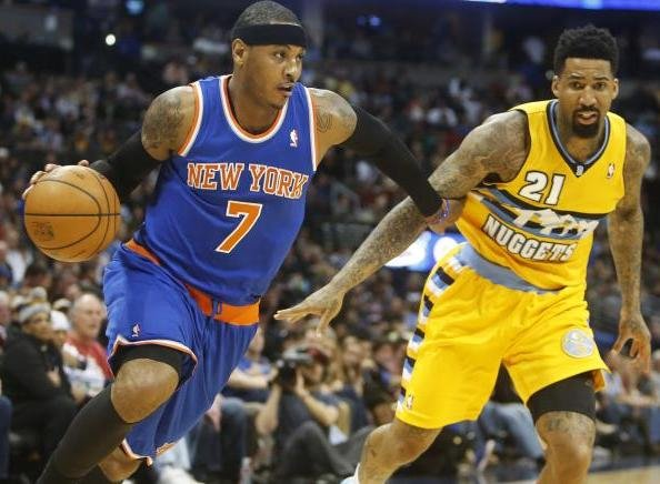 nuggets vs knicks melo 2