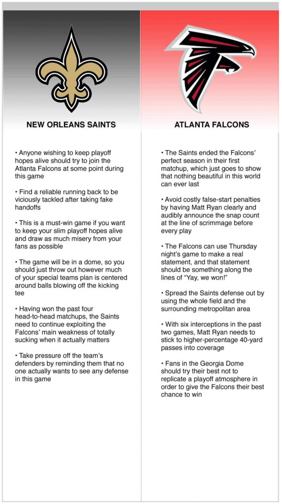 saints falcons